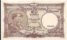 Belgium - 20 Francs - 1944 - P111 - VF - [ 2] 1831-... : Belgian Kingdom