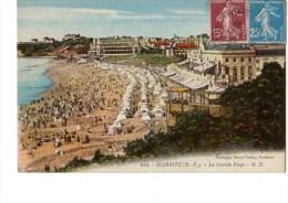 C P A---64---BIARRITZ---la Grande Plage---voir 2 Scans - Biarritz