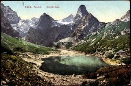 Cp Hohe Tatra Slowakei, Blick Auf Den Grünen See, Gebirgslandschaft, Zöldtó - Slovacchia