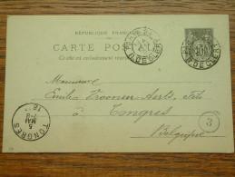 CP / BK - Entre Paris Et Tongres / Anno 1897 ( Zie/voir Foto Voor Details ) !! - Cartes Postales