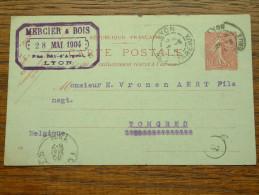 CP / BK - Entre Lyon ( Mercier & Bois ) Et Tongres / Anno 1904 ( Zie/voir Foto Voor Details ) !! - Cartes Postales