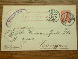 CP / BK - Entre Roubaix ( Paul Loth ) Et Tongres / Anno 1904 ( Zie/voir Foto Voor Details ) !! - Cartes Postales