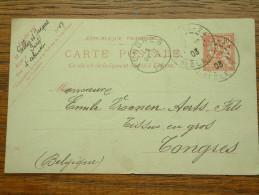 CP / BK - Entre Paris ( Gellee Et Jacques ) Et Tongres / Anno 1903 ( Zie/voir Foto Voor Details ) !! - Cartes Postales