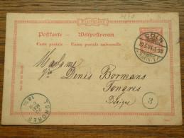 CP / BK - Entre COLN ( Cöln ) ( ... ) Et Tongres / Anno 1894 ( Zie/voir Foto Voor Details ) !! - Cartes Postales