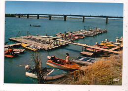 Tchad - N�DJAMENA - Le pont de Chagoua - anim�e, bateaux - 10,5 x 14,7 cm