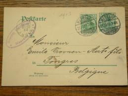 CP / BK - Entre MEERANE ( Offerte ) Et Tongres / Anno 1903 ( Zie/voir Foto Voor Details ) !! - Cartes Postales