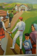 Illustrateur Larry Aldeanos Vascos Basques - Xmas