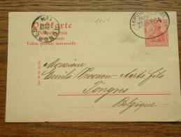 CP / BK - Entre Leipzig ( Zug 554 ) ( C. G. Reissig & C° ) Et Tongres / Anno 1904 ( Zie/voir Foto Voor Details ) !! - Cartes Postales