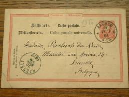 CP / BK - Entre Aachen ( Borcette ) ( ... ) Et Hasselt / Anno 1886 ( Zie/voir Foto Voor Details ) !! - Cartes Postales