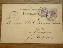 CP / BK - Entre Cöln ( Borcette ) ( ... ) Et Tongres / Anno 1877 ( Zie/voir Foto Voor Details ) !! - Cartes Postales