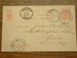 CP / BK - Entre BETTBORN ( ... ) Et Hasselt / Anno 1892 ( Zie/voir Foto Voor Details ) !! - Cartes Postales