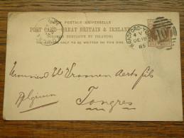 CP / BK - Entre LEEDS ( 417 Stamp... ) Paul Hirsch & Josephy ) Et Tongres / Anno 1896 ( Zie/voir Foto Voor Details ) !! - Cartes Postales