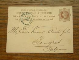 CP / BK - Entre GB Ire ( ... ) Et Tongres / Anno 1881 ( Zie/voir Foto Voor Details ) !! - Cartoline