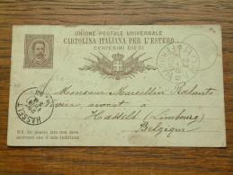 CP / BK - Entre ROMA Italia ( ... ) Et Hasselt / Anno 1888 ( Zie/voir Foto Voor Details ) !! - Cartes Postales