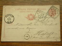 CP / BK - Entre LUCCA Italia ( ... ) Et Hasselt / Anno 1898 ( Zie/voir Foto Voor Details ) !! - Cartes Postales