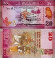 SRI LANKA        20 Rupees       P-123      1.1.2010     UNC - Sri Lanka