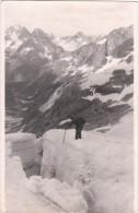 Intéressante Carte-photo - Brêche De La Meige - 12 Juillet 1937 - 7h20 Du Matin - Très Froid - Mountaineering, Alpinism