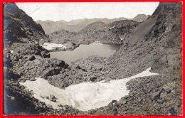 [DC6268] MONTAGNA - GHIACCIAIO - LAGO - NON IDENTIFICATA - Viaggiata 1907 - Old Postcard - Fotografia