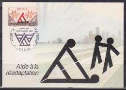 = Carte Postale Aide à La Réadaptation 1er Jour Paris 18 11 1978 N°2023 - Maximumkarten