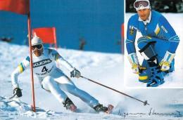 Sports D´hiver INGEMAR STENMARK  (1)Ski  (Pub  Dossard KUONI )*PRIX FIXE - Sport Invernali