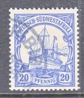 Germany South West Africa  16   (o)   KARIBIB  Type  I  Cd. - Colony: German South West Africa