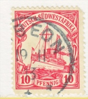 Germany South West Africa  28   (o)   Wmk.  GIBEON  Cd. - Colony: German South West Africa