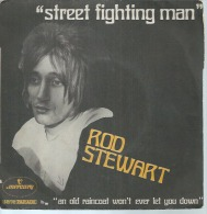 "45 Tours SP - ROD STEWART  -  MERCURY 127502  "" STREET FIGHTING MAN "" + 1 - Vinyles"