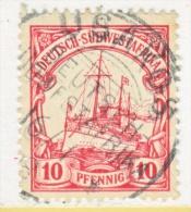 Germany South West Africa  28   (o)   Wmk.  USAKOS   Type II  Cd. - Colony: German South West Africa