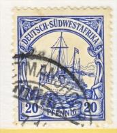 Germany South West Africa  29   (o)   Wmk.  KEETMANSHOOP   Type III  Cd. - Colony: German South West Africa