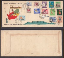 South  Africa, Plani Fist Day Cover 1961 Definitive Set TZANEEN C.d.s. - Covers & Documents