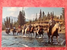 Canada  Rafter Six Guest Ranch Seebe. Horses Chevaux Pferde -> Belgique 1974. Carte Pliée ! - Alberta