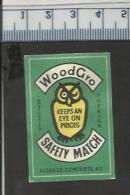OWL EULE CHOUETTE UIL Old Polish Matchbox Label - Scatole Di Fiammiferi - Etichette