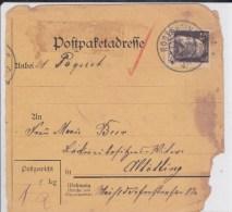 BAYERN - CARTE De COLIS POSTAL DEFECTUEUSE De ROSENHEIM