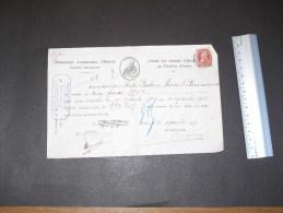 SA CIE D'ASSURANCES D'ANVERS - Anvers Le 10/9/1907 - Reçu De Prime D'assurance De Michel Paulin Haine St Pierre - Bank & Insurance