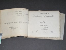 TOURNAI - Oeuvre Des Veuves Et Orphelins De Guerre - Carnet De Souches De Bons Pour Une Visite Médicale à Domicile - Documents Historiques