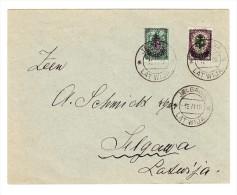 Russland West-Armee (General Awaloff-Bermondt) 1919  1R Auf 25K + 2R Auf 50 K Auf Brief Nach Jelgawa Latwija - Armée Wrangel