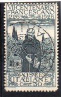1926 - Regno S. Francesco  N. 193 Timbrato Used - Centrato - 1900-44 Victor Emmanuel III