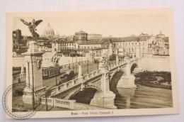 Postcard Italy -Rome/ Roma - Ponte Vittorio Emanuele II/ Old Carriage And Tram  - Edited G. Di Veroli - Uncirculated - Trasporti