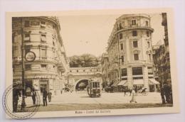 Postcard Italy -Rome/ Roma - Tunnel Del Quirinale/ Old Tram And Carriage  - Edited G. Di Veroli - Uncirculated - Trasporti