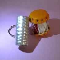 Porte-clefs - Keychain - Keyring - Sleutelhanger - Llavero  Dominican Republic - Musical Instruments - Drum - Sleutelhangers
