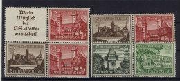 Lot Deutsches Reich ZD W 136 , 140 , 144 ** postfrisch