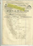 52 - Haute-marne - BOURBONNE-LES-BAINS - Facture PELLETIER - Charron – 1903 - 1900 – 1949