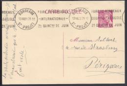 FR - 1939 -  CARTE ENTIER POSTAL TYPE MERCURE DE BORDEAUX POUR PERIGUEUX - - Cartoline Postali E Su Commissione Privata TSC (ante 1995)