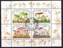 BULGARIE Mi.nr.:4410-4413 Kl.bogen Speisepilze 1999 Oblitérés / Used / Gestempeld - Bulgaria