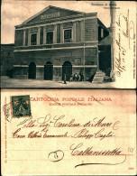 285) Cartolina Di Terranova Di Sicilia-teatro Garibaldi-viaggiata 1905 - Caltanissetta