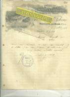 52 - Haute-marne - BOURBONNE-LES-BAINS - Facture BILLOTTE & FEBVRE - Manufacture De Meubles Et Sièges – 1906 - 1900 – 1949