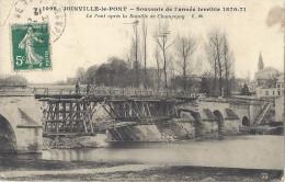 Cp 94 JOINVILLE LE PONT Souvenir De L´année Terrible Le Pont Après La Bataille De Champigny  Guerre 1870 1871 - Altre Guerre