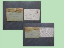 37 Bléré, CENSURE Allemande 1942, Lemaître, Avec Carte Dargent, Montlouis ; Ref 882 - 1921-1960: Modern Period