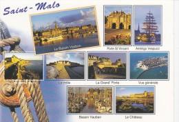 Cp , 35 , SAINT-MALO , Panorama , Multi-Vues - Saint Malo