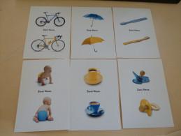 LOT DE 6 CARTES...PUBLICITE WOLKSWAGEN..NOUVELLES POLO ET FOX - Postcards
